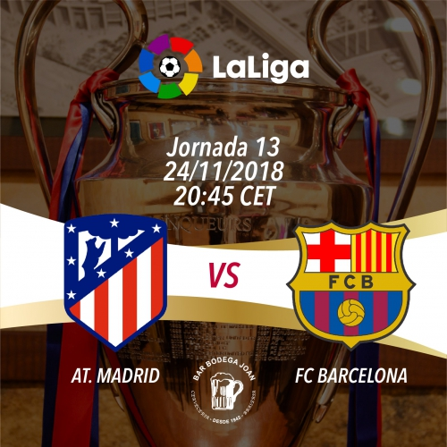 Partido de LaLiga Santander: AT. Madrid vs FC Barcelona