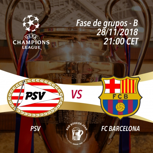Champions League: PSV vs FC Barcelona